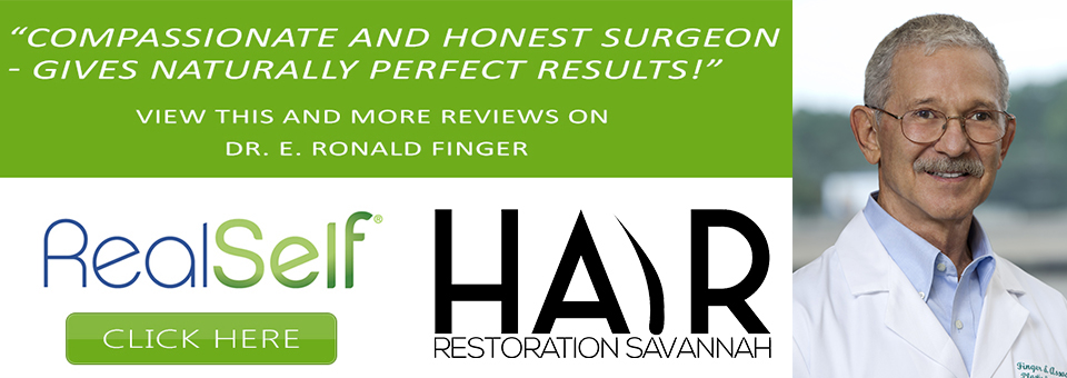 Neograft Hair Restoration and FUT Strip Hair Transplantation are both offered by Dr. E. Ronald Finger in Savannah