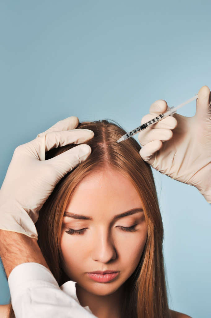 Nonsurgical Hair Restoration with PRP is offered in our office for only $595 per treatment