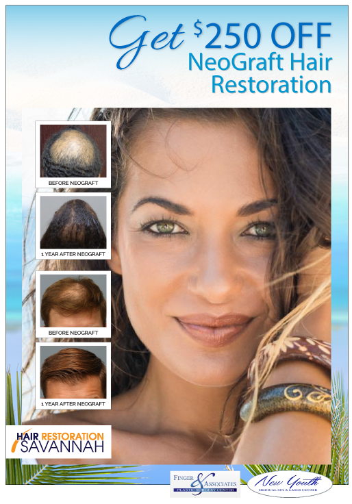 Finger and Associates, New Youth Medical Spa and Hair Restoration Savannah Special_Get $250 Off NeoGraft Hair Restoration